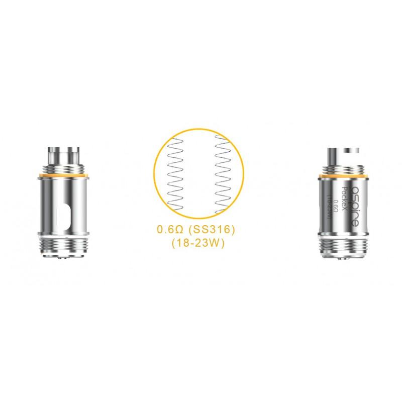 Aspire PockeX Coils 1.2 Ohm 5 Pack
